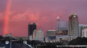 Downtown Raleigh Winter Rainbow &#8211; January 7, 2009