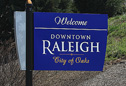 New Welcome to Raleigh Sign