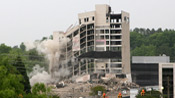 Crabtree Valley Sheraton Hotel Implosion
