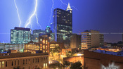 Lightning, Rainbow, and Storms in Raleigh