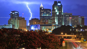 Lightning over Raleigh – August 21, 2011