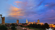 Timeplase: Hurricane Irene approaching Raleigh at Sunset