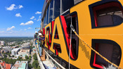 Wells Fargo Sign Installation &#8211; View from the top