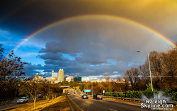 2018 Winter Solstice Rainbow over downtown Raleigh