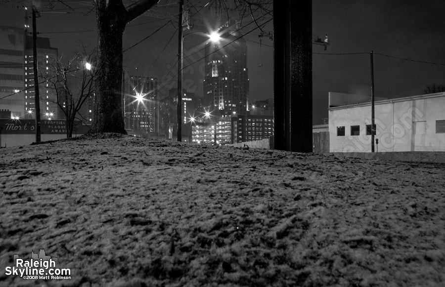 Snowy Downtown Raleigh
