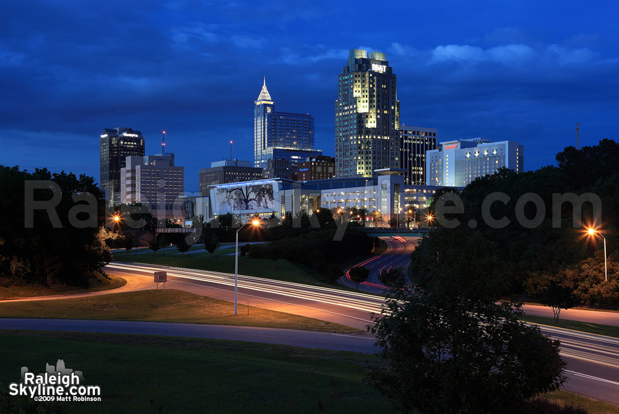Downtown Raleigh at Magic Hour