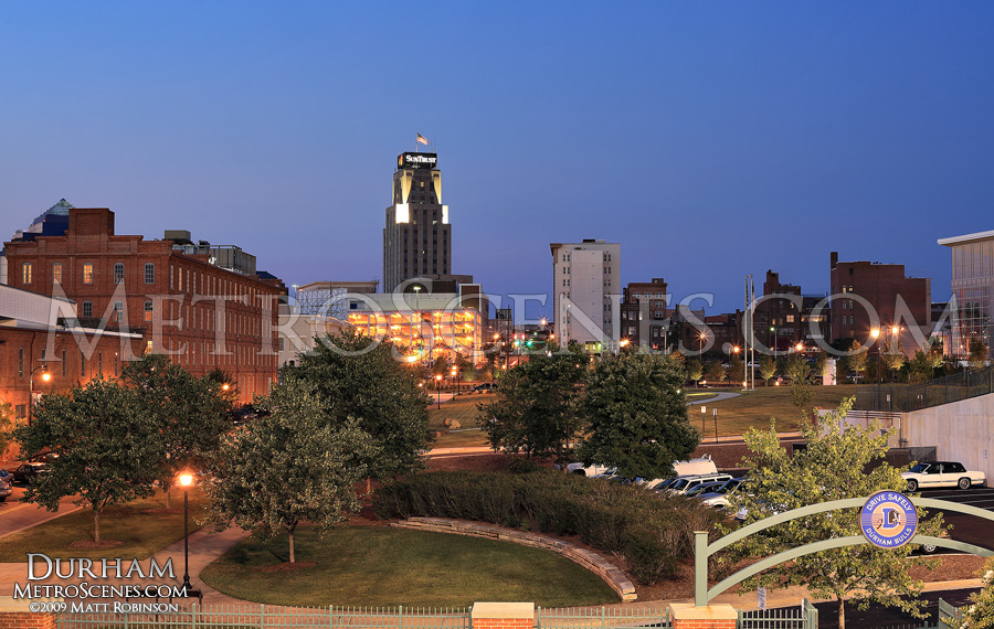 Durham skyline at night