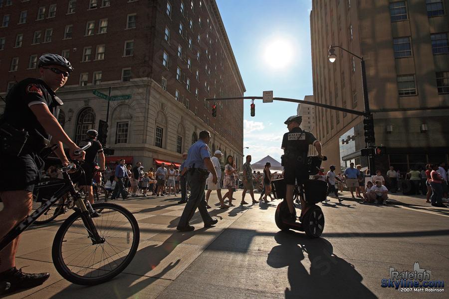 Biking, walking... Segwaying.