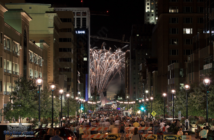Raleigh should have more fireworks downtown.