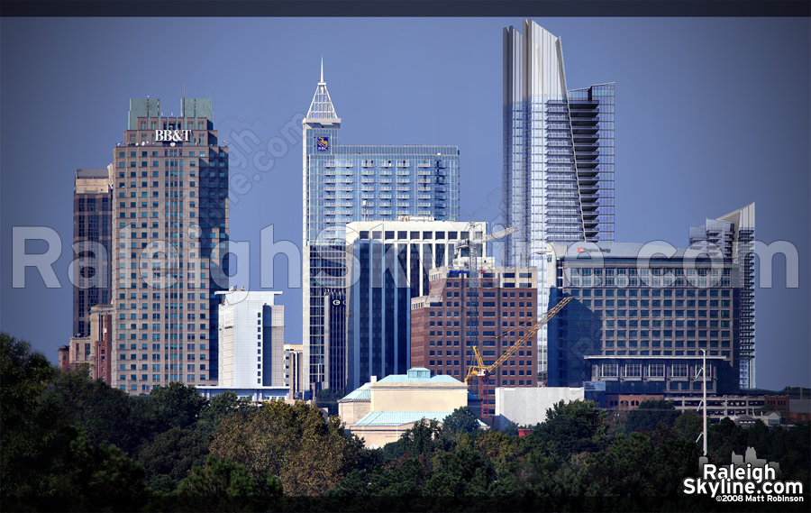 Future Raleigh Skyline rendering - 2008