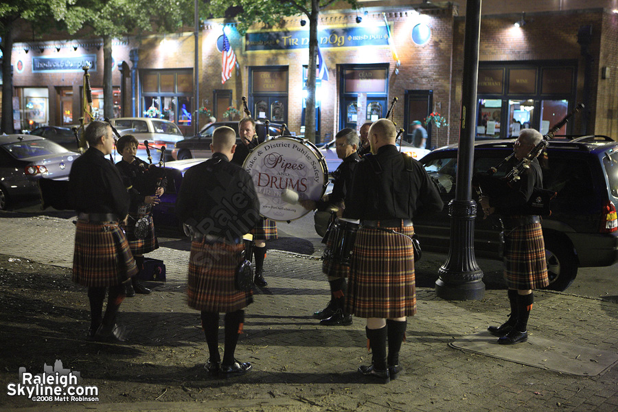 Bag Pipes in Moore Square