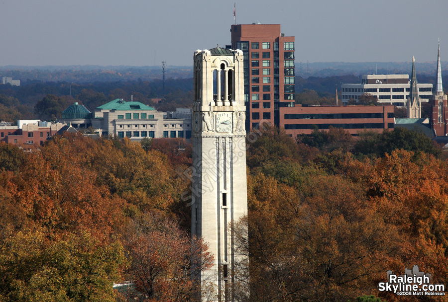 NCSU Bell Tower with Fall Colors