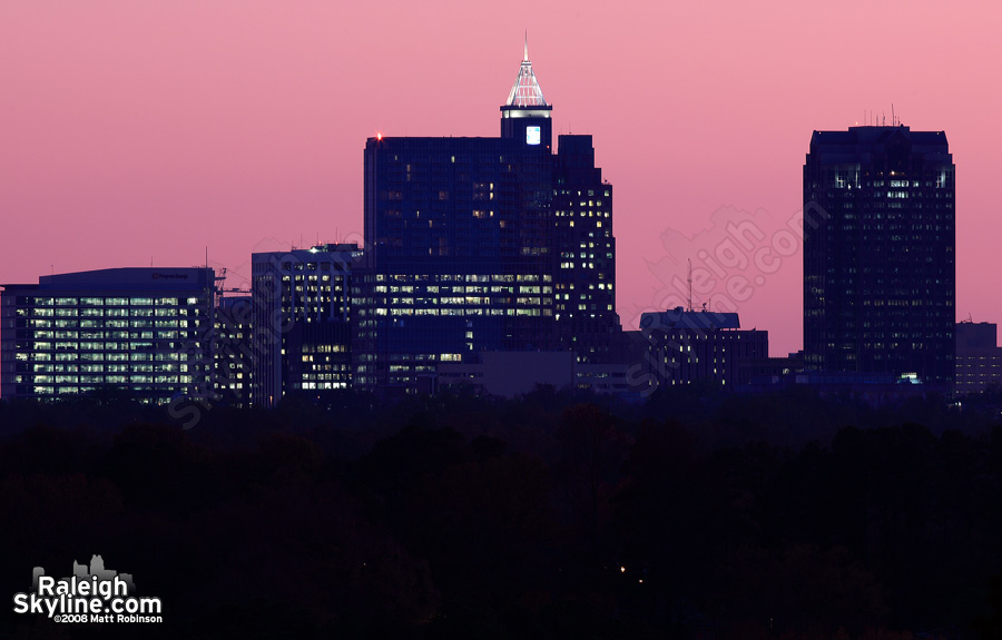 Pink Sunset and Raleigh