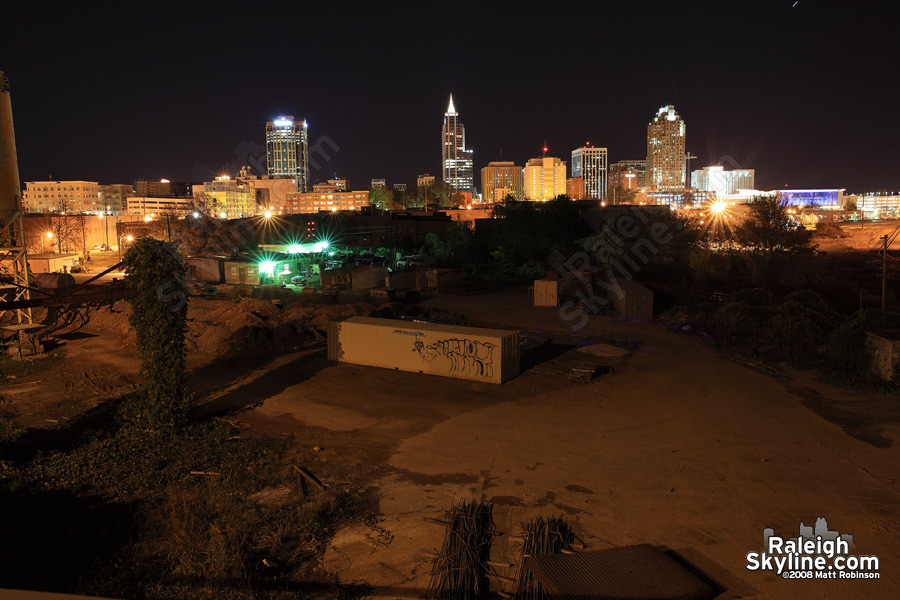 Night skyline from Boylan Avenue Bridge
