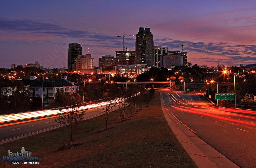 Sunrise in Raleigh, NC RaleighSkyline.com