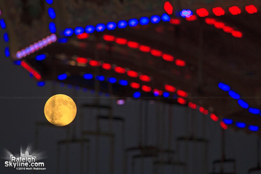 Swinging full moon