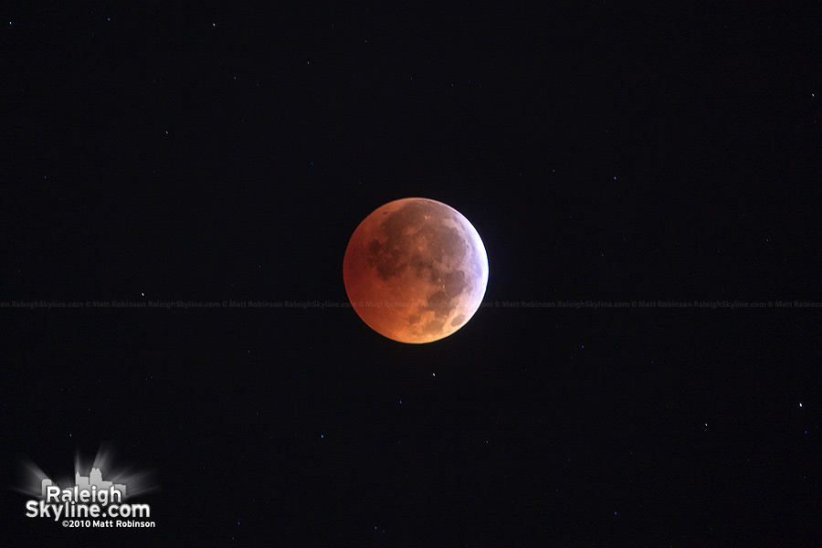 Total Lunar Eclipse as seen from Downtown Raleigh (where else?)