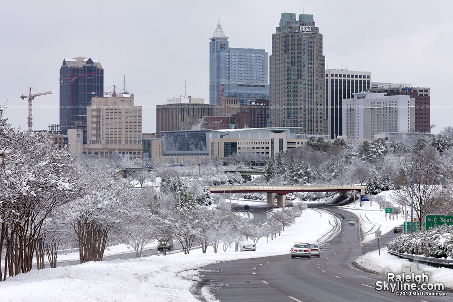 A nearly White Christmas in Raleigh in 2010