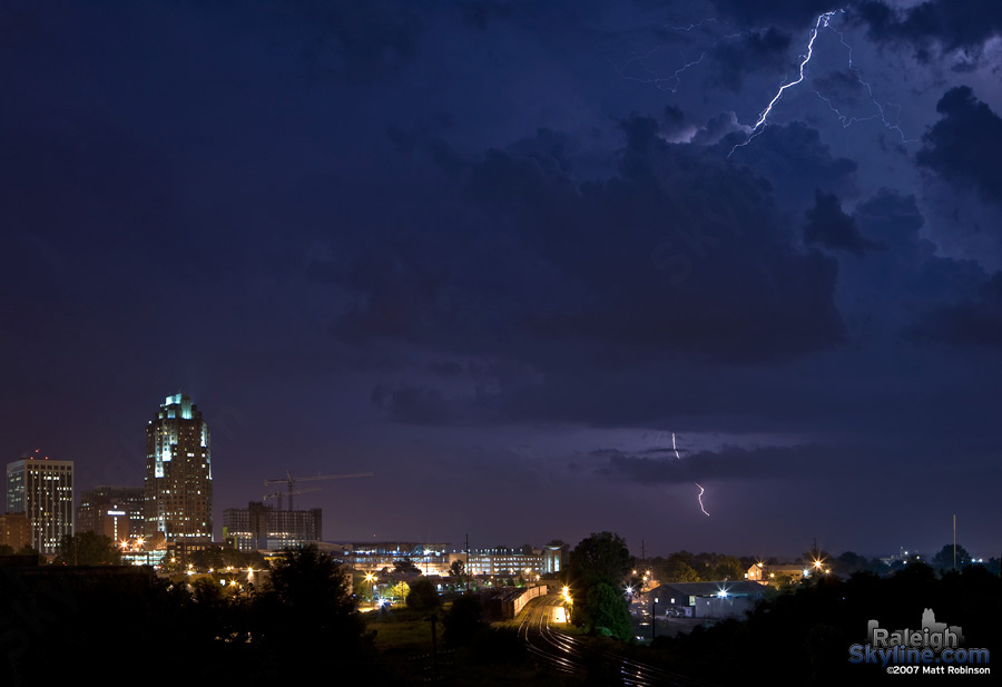 Lightning over Raleigh
