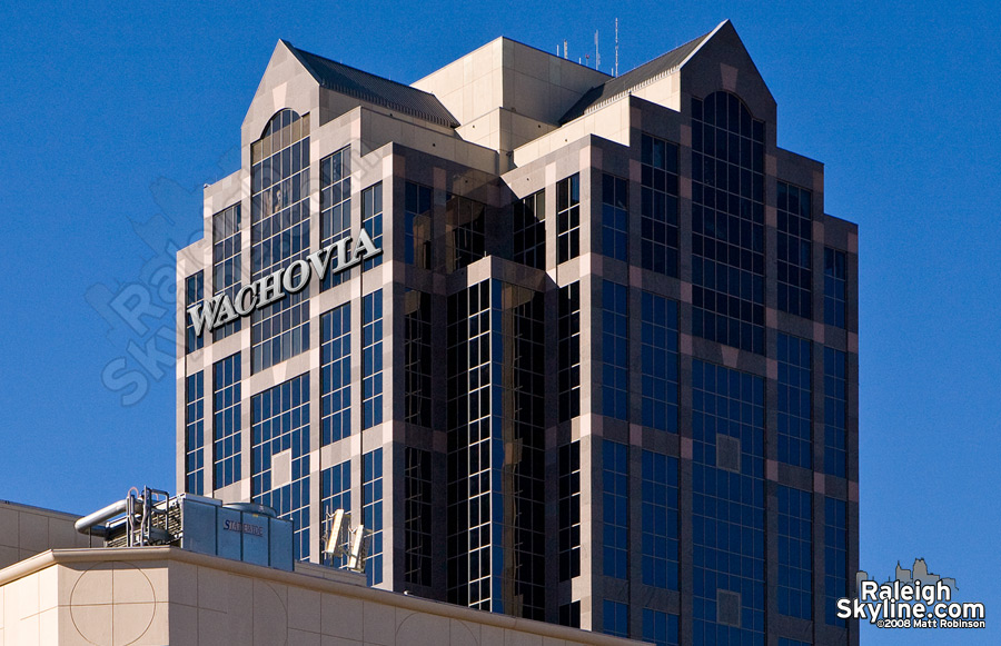 Wachovia Sign Raleigh South