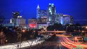 Raleigh Skyline at night as of 2014