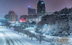 Raleigh dreaming of a White Christmas – December 9-10, 2018