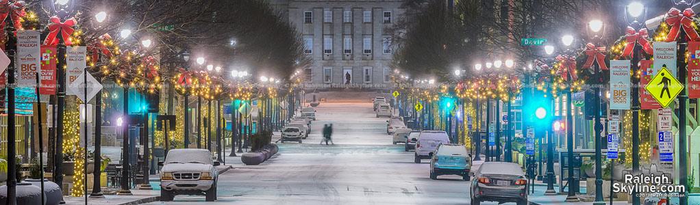 Raleigh snowfall on January 3-4, 2018