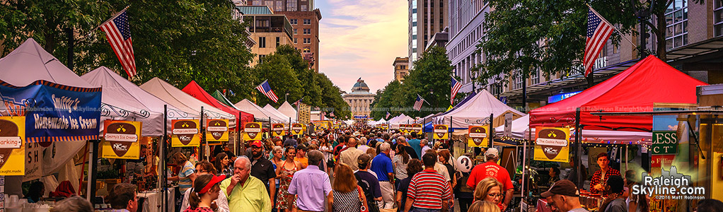 Downtown Raleigh and the World of Bluegrass